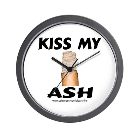 Kiss My Ash Cigar Wall Clock