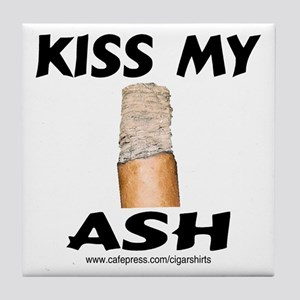 Kiss My Ash Cigar Tile Coaster