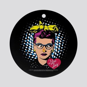 I Love Lucy: Nose on Fire Round Ornament