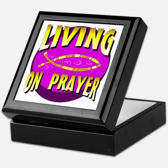 Living On Prayer Keepsake Box