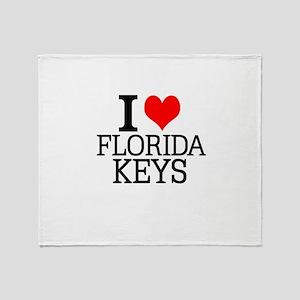 I Love Florida Keys Throw Blanket