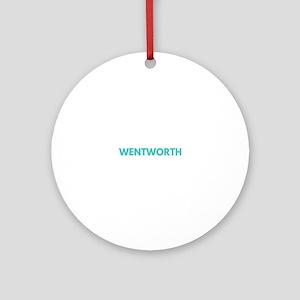 Wentworth Type Round Ornament