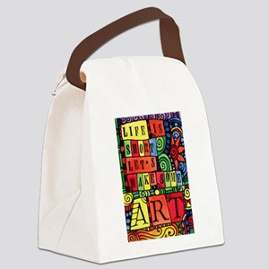 Let's Make Art! Quote for Artist Canvas Lunch Bag