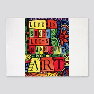 Let's Make Art! Quote for Artist 5'x7'Area Rug