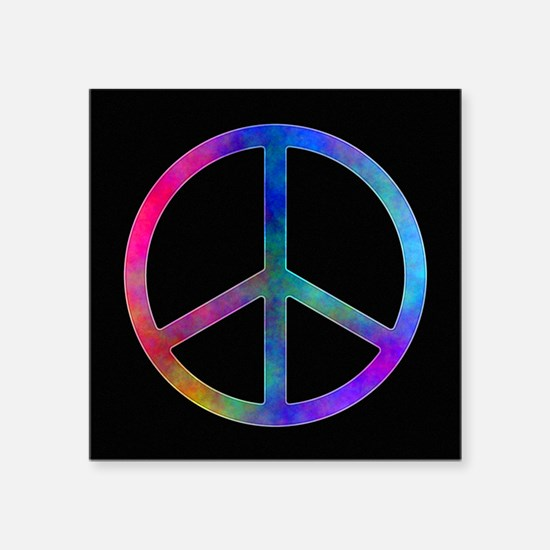 Multicolored Peace Sign Sticker