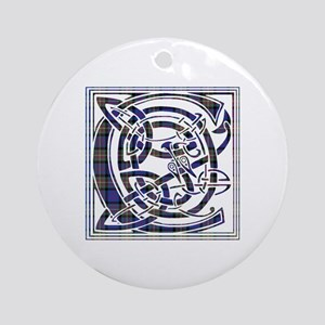 Monogram - Carnegie Ornament (Round)