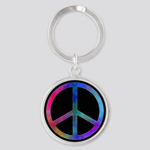 Multicolored Peace Sign Keychains