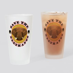 Save the Elephants Drinking Glass