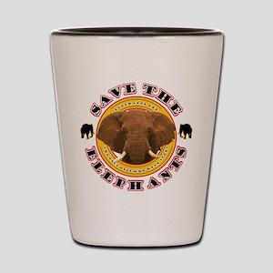 Save the Elephants Shot Glass