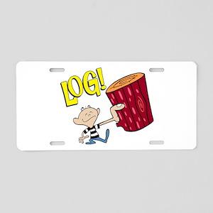 LOG! Aluminum License Plate