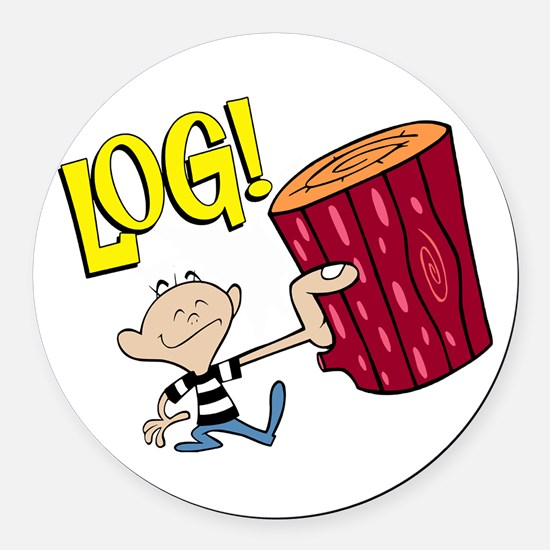 LOG! Round Car Magnet