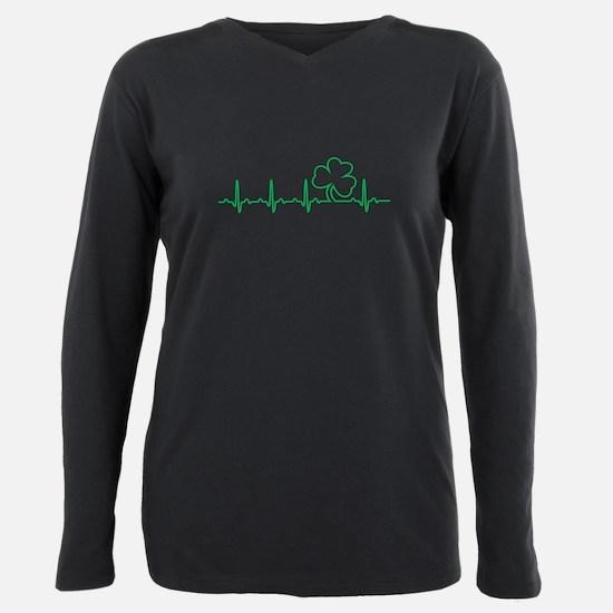 Irish Heartbeat, Irish at Heart Plus Size Long Sle