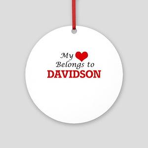 My Heart belongs to Davidson Round Ornament