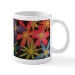Flowers in Black Mugs