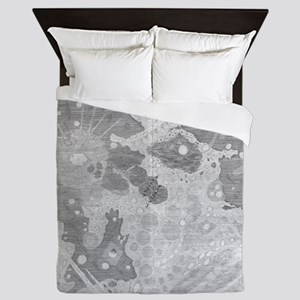 Vintage Map of The Moon (1647) Queen Duvet