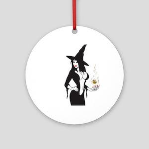 halloween sexy witch Round Ornament