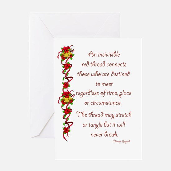 Red Thread Greeting Card