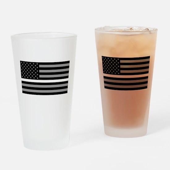 EMS: Black Flag & Thin White Line Drinking Glass