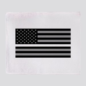 EMS: Black Flag & Thin White Line Throw Blanket