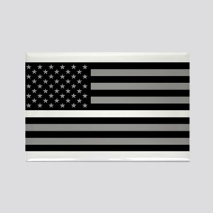 EMS: Black Flag & Thin White Line Rectangle Magnet