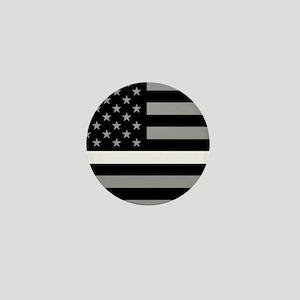 EMS: Black Flag & Thin White Line Mini Button
