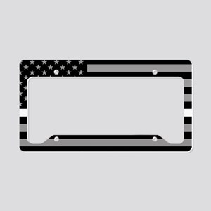 EMS: Black Flag & Thin White License Plate Holder