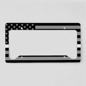 EMS: Black Flag & Thin White License Plate Holder