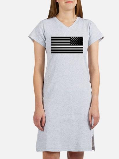 EMS: Black Flag & Thin White Li Women's Nightshirt
