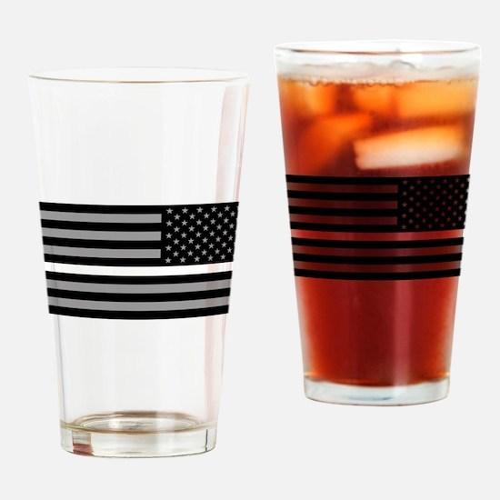 EMS: Black Flag & Thin White Line ( Drinking Glass