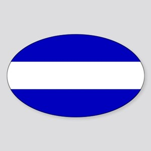EMS: The Thin White Line Sticker (Oval)