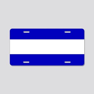 EMS: The Thin White Line Aluminum License Plate