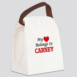 My Heart belongs to Carney Canvas Lunch Bag