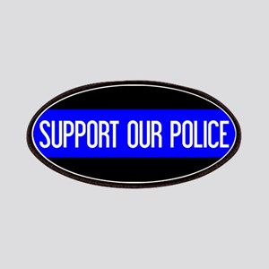 Police: Support Our Police & The Thin Blue L Patch