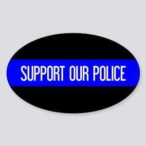Police: Support Our Police & The Th Sticker (Oval)