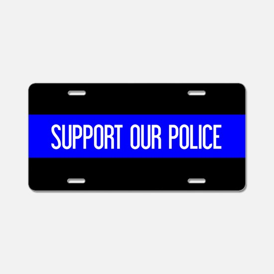 Police: Support Our Police Aluminum License Plate