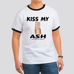 Kiss My Ash Cigar Ringer T