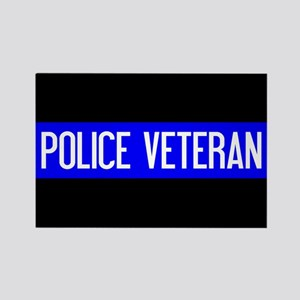 Police: Police Veteran & The Thin Rectangle Magnet