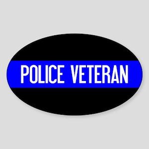 Police: Police Veteran & The Thin B Sticker (Oval)