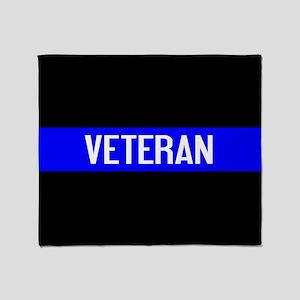 Police: Veteran & The Thin Blue Line Throw Blanket