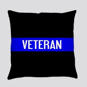 Police: Veteran & The Thin Blue Li Everyday Pillow