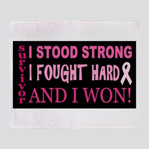 I Stood Strong Throw Blanket
