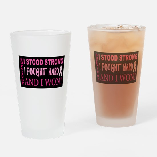 I Stood Strong Drinking Glass