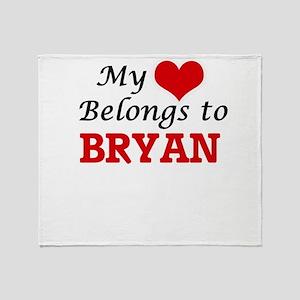 My Heart belongs to Bryan Throw Blanket