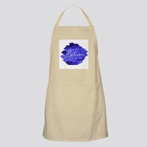 Believe You Can And You Will Blue and Purple Apron