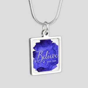 Believe You Can And You Will Blue and Pu Necklaces