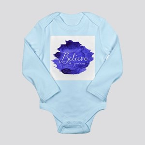 Believe You Can And You Will Blue and Pu Body Suit