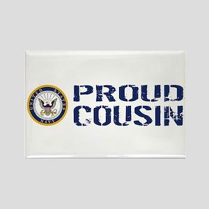 U.S. Navy: Proud Cousin (Blue & W Rectangle Magnet