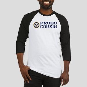 U.S. Navy: Proud Cousin (Blue) Baseball Jersey