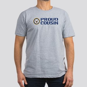 U.S. Navy: Proud Cousi Men's Fitted T-Shirt (dark)