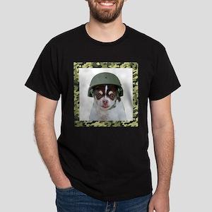 Military Chihuahua Dog T-Shirt